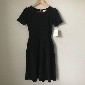 LuLaRoe Solid Black Amelia Dress NWT